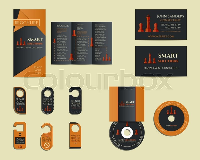 Smart solutions business branding identity set. Flyer, brochure, cd ...
