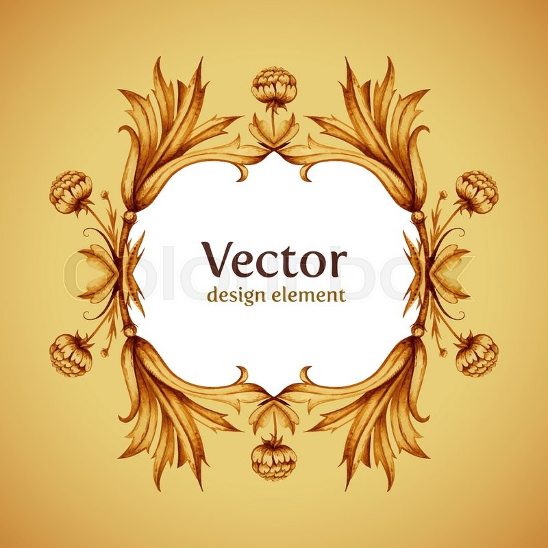 Elegant Vintage Vector Background With Vintage Border Decoration - Best of ancient scroll template ideas
