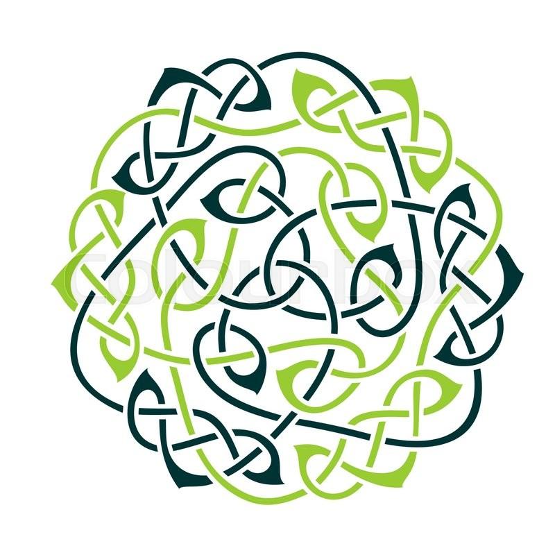 Big celtic knot celtic ornament vector illustration for Irish mail cart plans