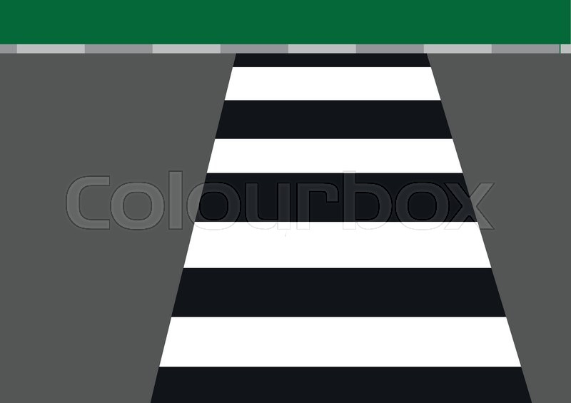 Line Drawing Of Zebra Crossing : Zebra crossing vector illustration stock colourbox