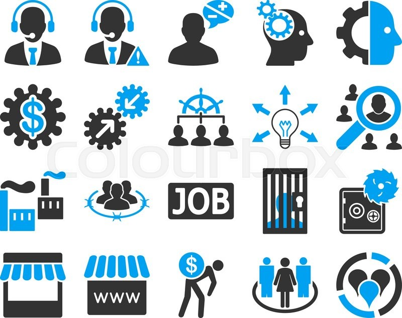 business service management icons these flat bicolor symbols use rh colourbox com can i use clip art for my business logo Recommendation Clip Art
