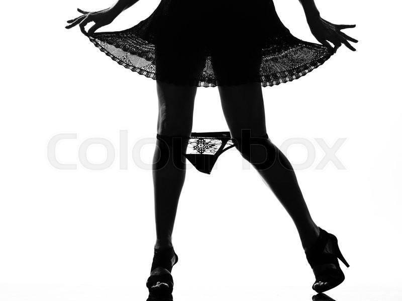 Stylish sexy silhouette beautiful ...  a76189c8f86