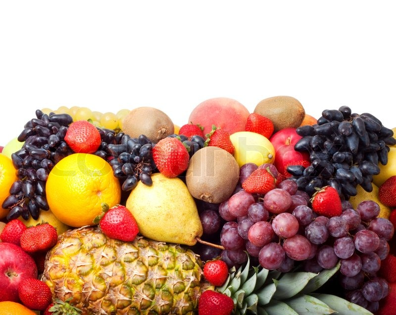 Stock image of 'Colorful healthy fresh fruit. Shot in a studio'