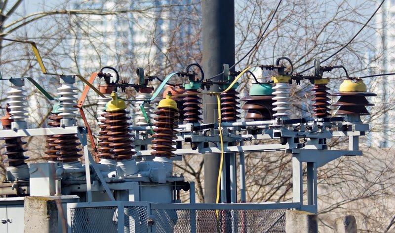 Power Line Circuit Breaker Stock Photo Image 25584510