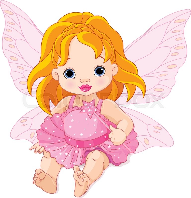 Cute Baby Fairies: Illustration Of Cute Baby Fairy