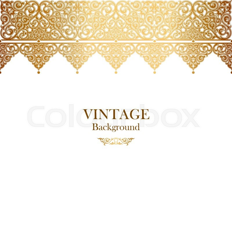Vintage vector card in islamic style seamless lace ornament border vintage vector card in islamic style seamless lace ornament border page for text ramadan greeting rich element for wedding decoration and invitation stopboris Image collections