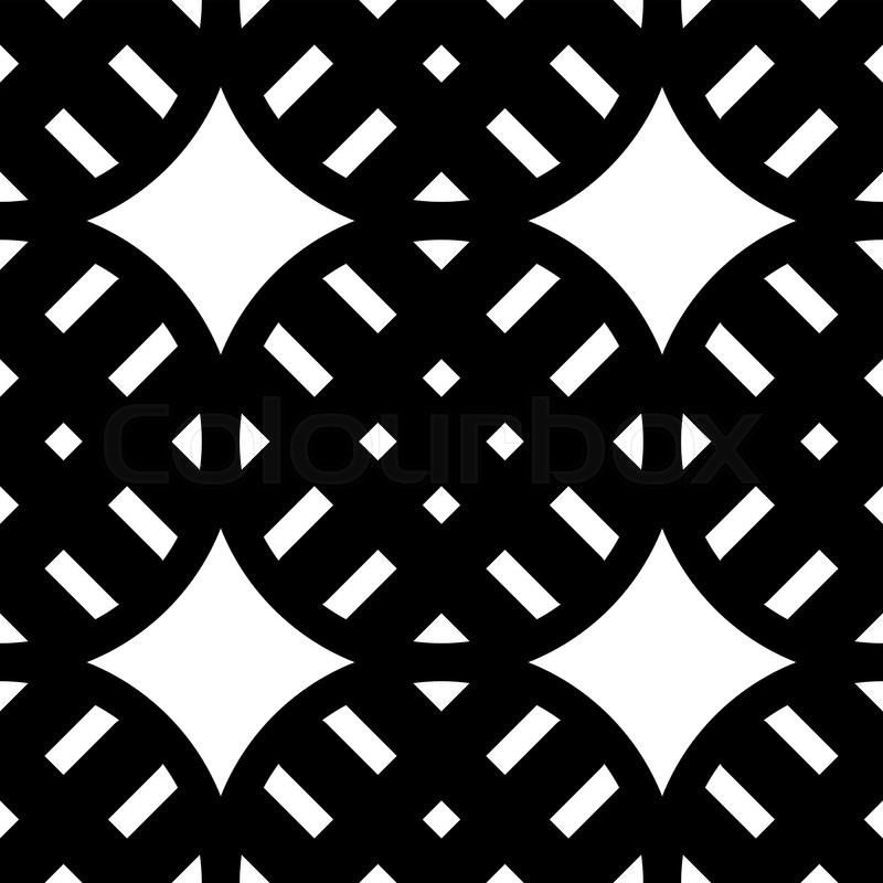 Geometric Vector Pattern In Retro Stock Vector