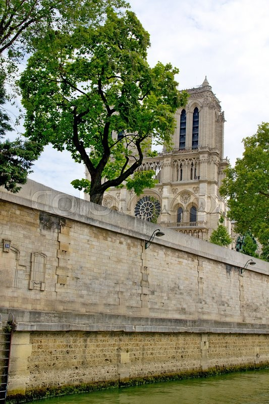 Stock image of 'Photo shows Notre Dame de Paris or just Notre Dame that is a historic religious cathedral, on the eastern half of the Île de la Cité in the fourth arrondissement of Paris, France.'