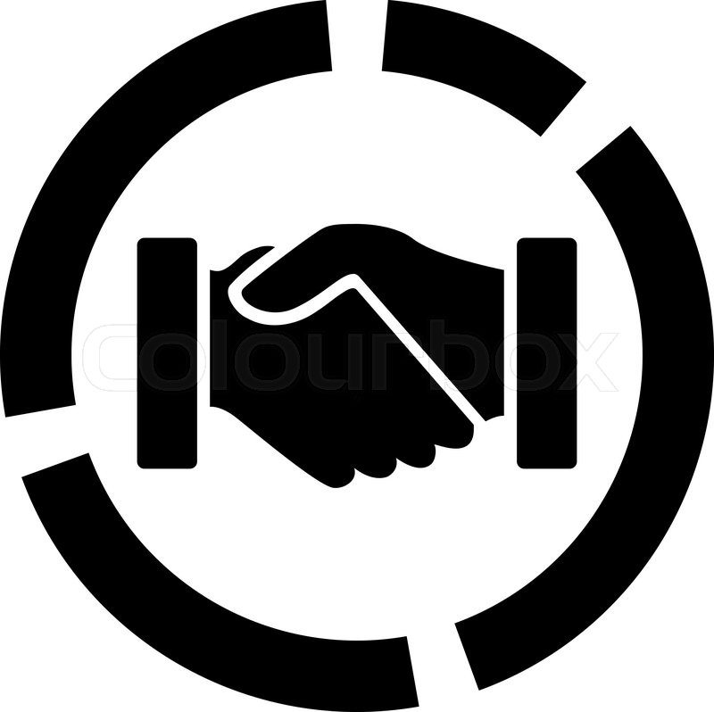 Acquisition Diagram Icon From Business Bicolor Set Vector Style