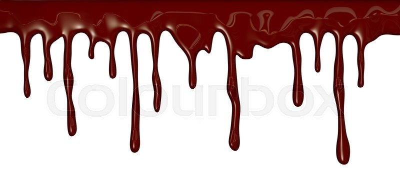 Stock image of 'Chocolate streams isolated on white'
