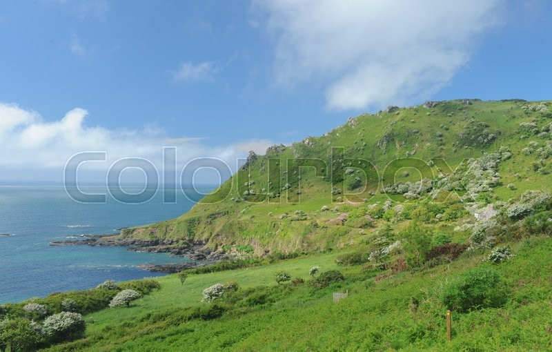 Stock image of 'On the South West Coastal Path, near Salcombe on the South Coast of Devon, England, UK'