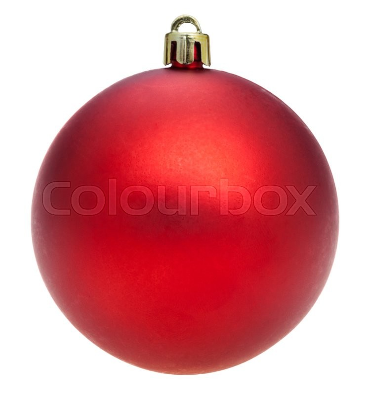 Stock image of 'christmas decorations - xmas red ball isolated on white background'