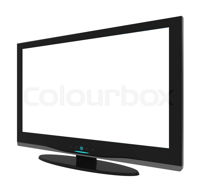 Stock image of 'Flat screen television , blank screen.'