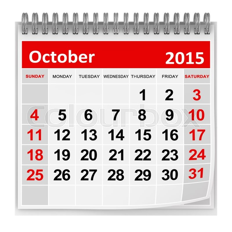 Stock image of 'October 2015'