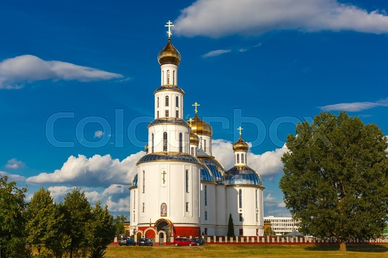 Stock image of 'Holy Resurrection Cathedral in Brest at summer day, Belarus'