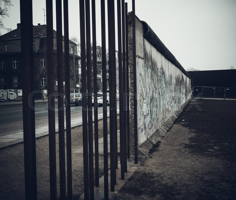 Editorial image of 'The Berlin Wall. Berlin Wall Memorial at Bernauer strasse'