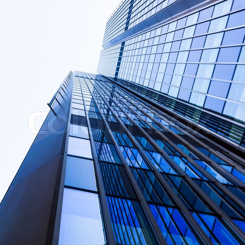 Stock image of 'Modern glass silhouettes of skyscrapers. office buildings'