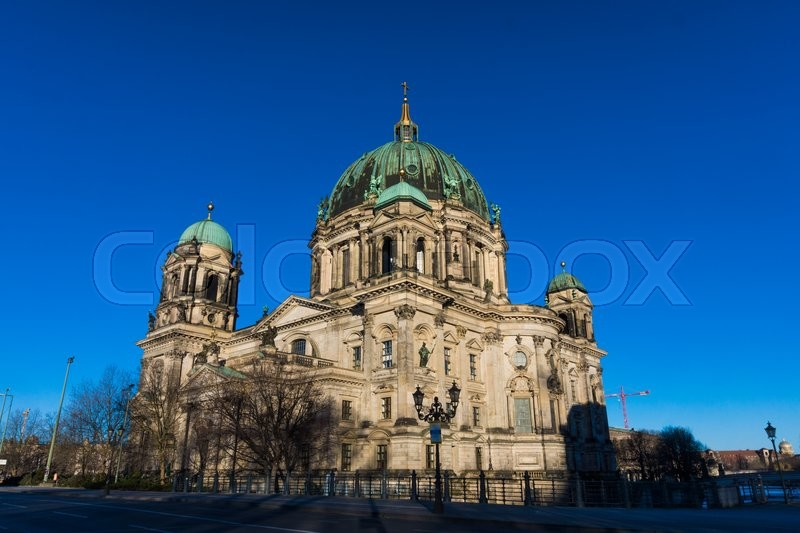 Stock image of 'Berlin Cathedral (Berliner Dom)  Evangelical neo-renaissance cathedral'