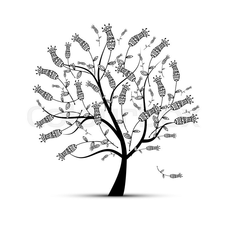 Stock image of 'Art tree for your design. Vector illustration'