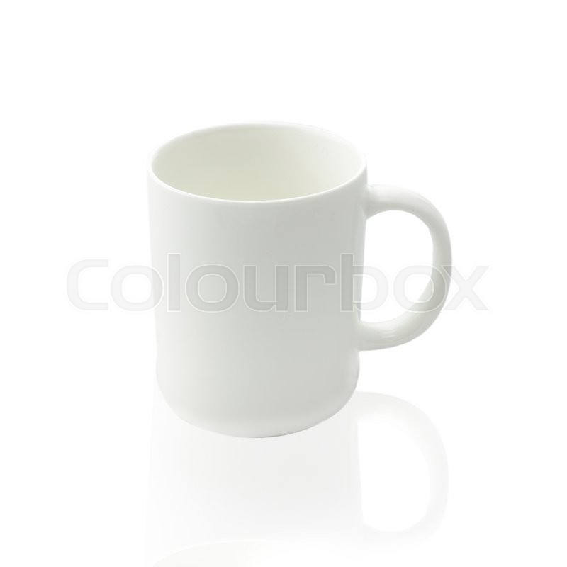 Stock image of 'Empty coffee cup or coffee mug isolated on white background.'
