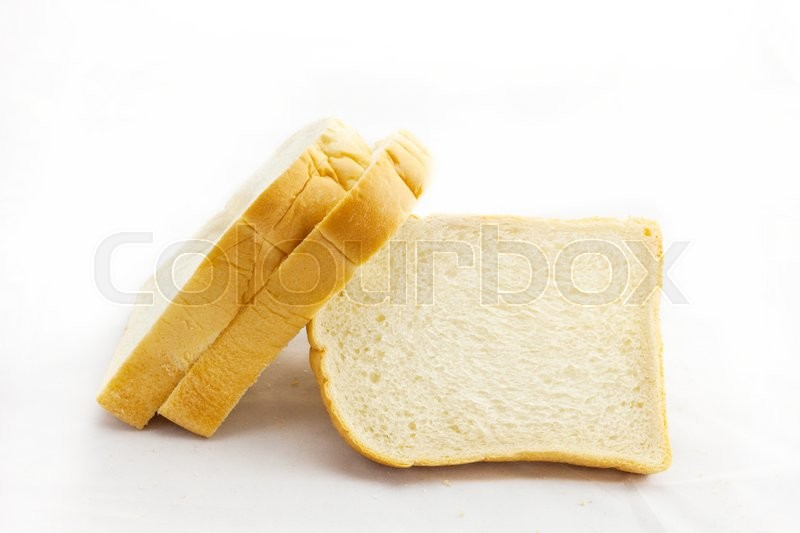 Stock image of 'Sliced bread isolated on white background .'