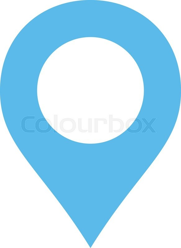 Map Marker Icon From Primitive Set This Isolated Flat Symbol Is Drawn With Blue Color On A White Background Angles Are Rounded Stock Vector