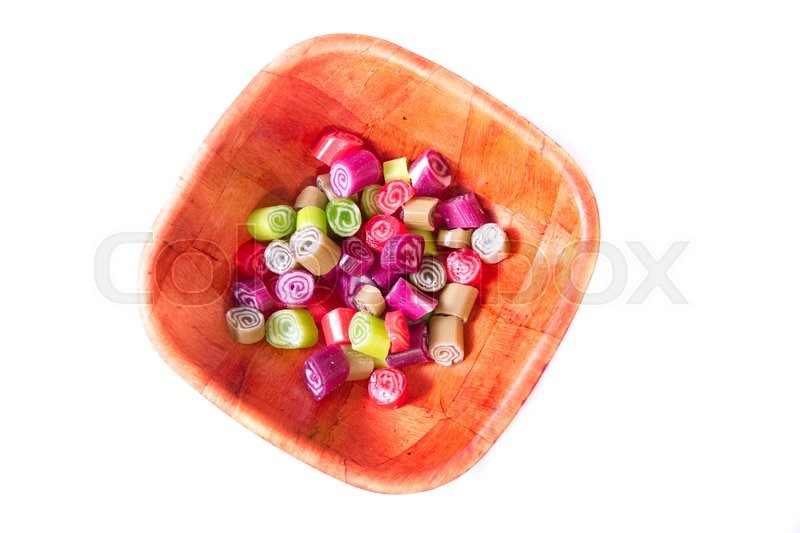 Stock image of 'Colorful candies on white background'