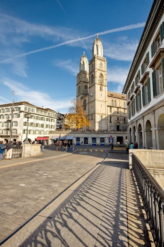Stock image of 'Cathedral of Zurich, Switzerland'