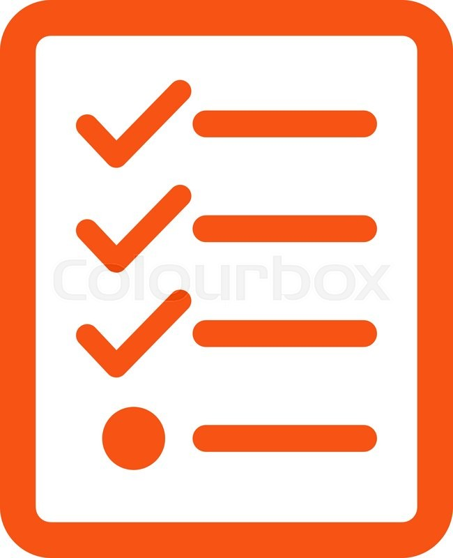 Checklist Icon From Business Bicolor Set Vector Style Is