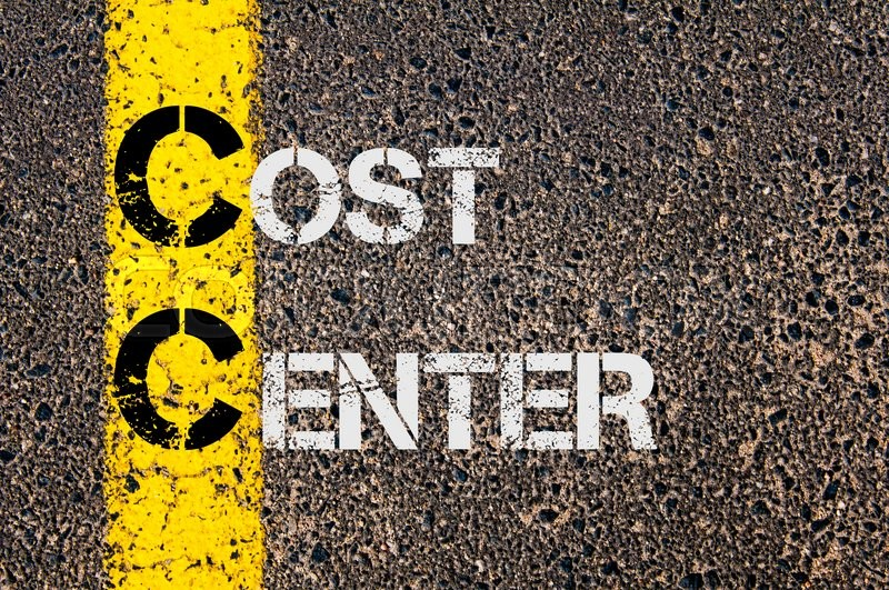 Stock image of 'Concept image of Business Acronym CC as Cost Center  written over road marking yellow paint line.'