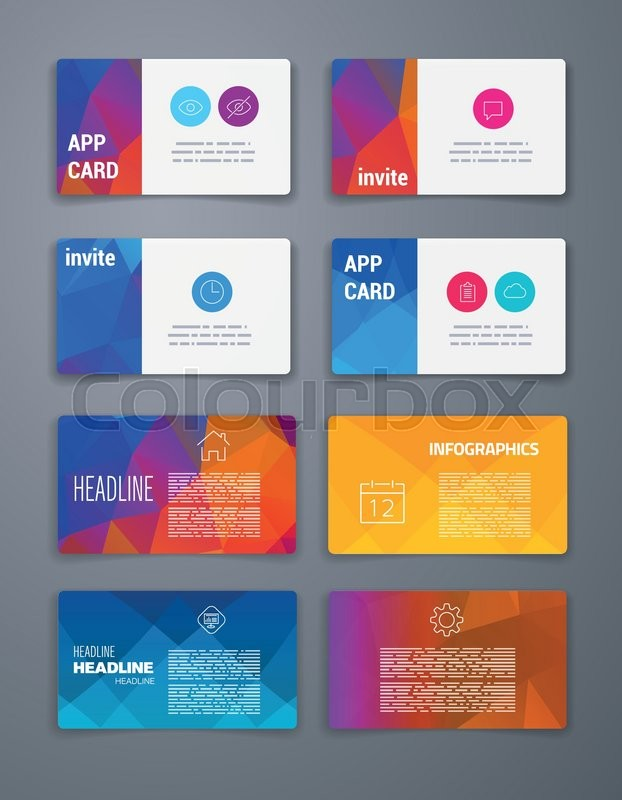 Template Business card Abstract Geometric Vector