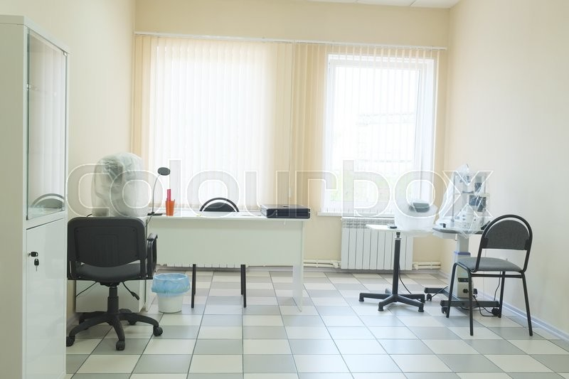 Stock image of 'Interior of an ophthalmologic office'