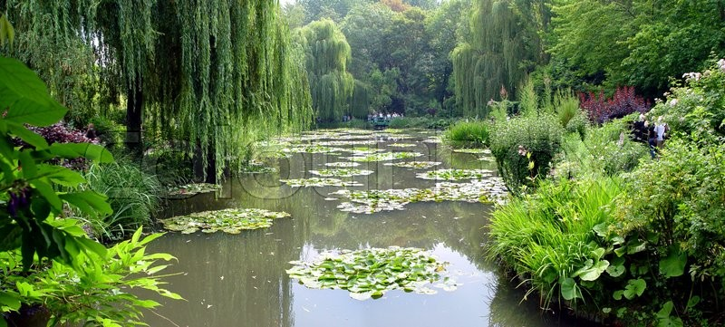 Stock image of 'A beautiful Claude Monet's gardens in Giverny, France'