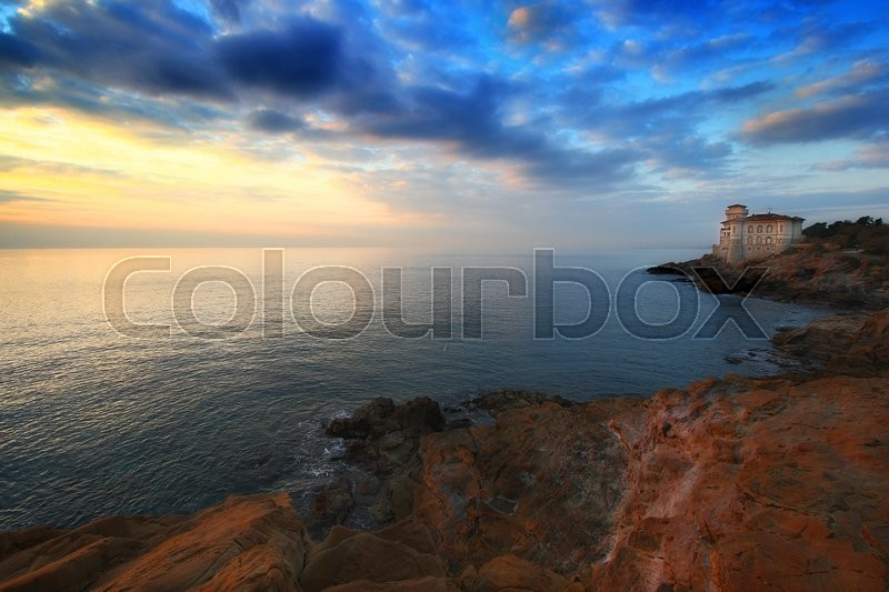 Stock image of 'The castle of Boccale in Livoro (Italy)'