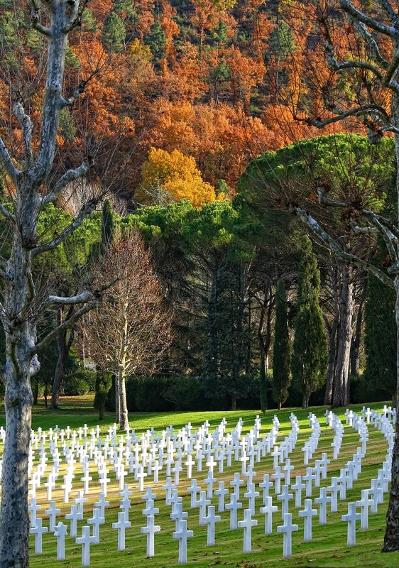Stock image of 'Cemetery of the Americans in Florence in autumn'