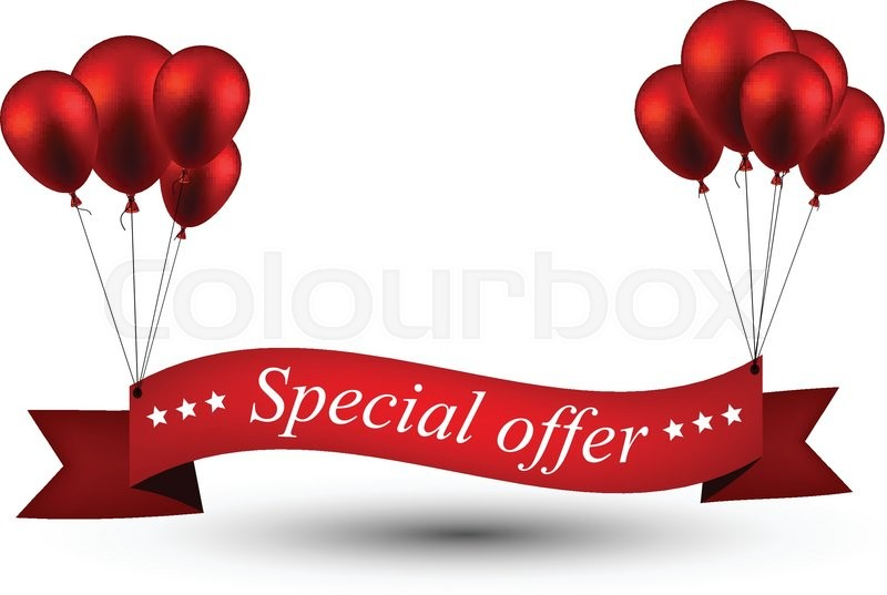 special offer ribbon background with red balloons vector box vector cranks m30-p box vector cranks