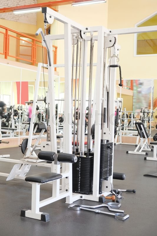 Stock image of 'Interior of a fitness'