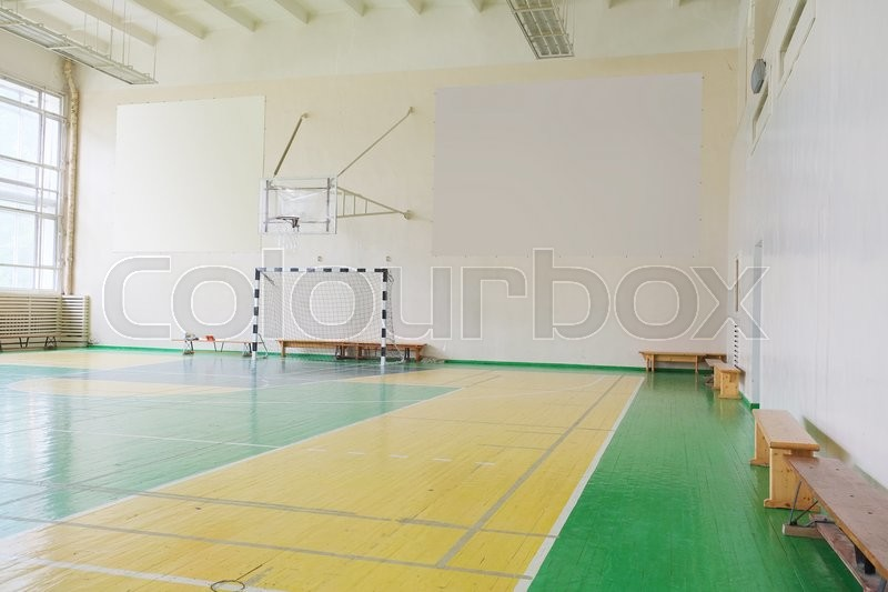 Stock image of 'Interior of a Interior of a hall for sport games'