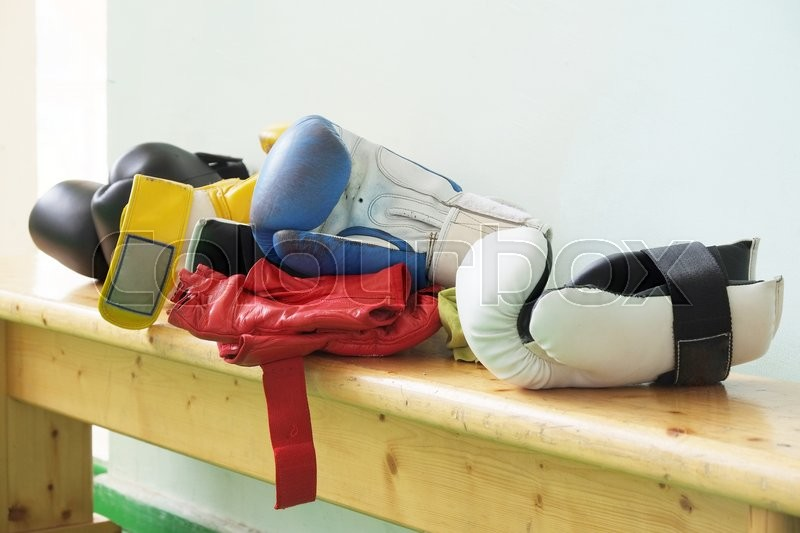 Stock image of 'The image of boxing gloves '