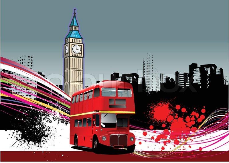Cover Für Broschüre Mit London Vektorgrafik Colourbox