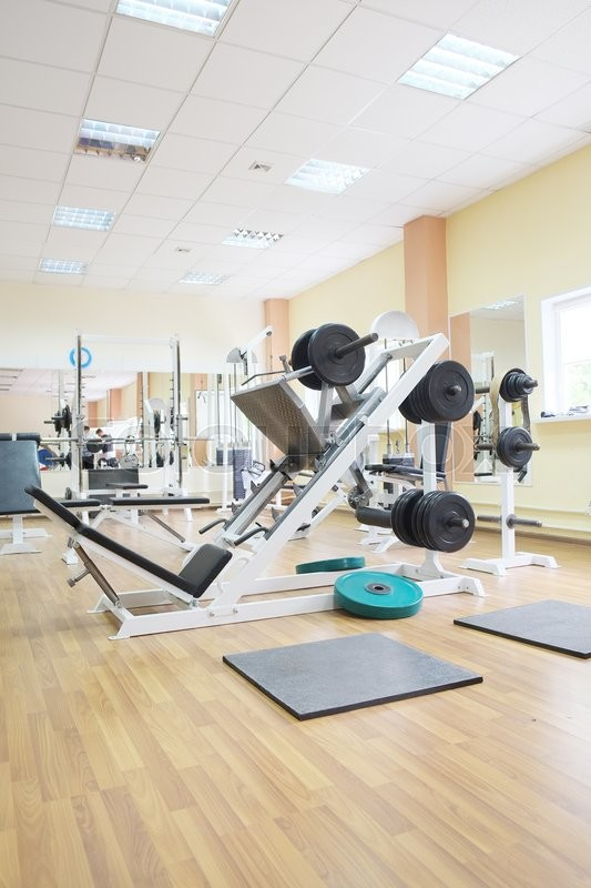 Stock image of 'The image of a fitness hall'