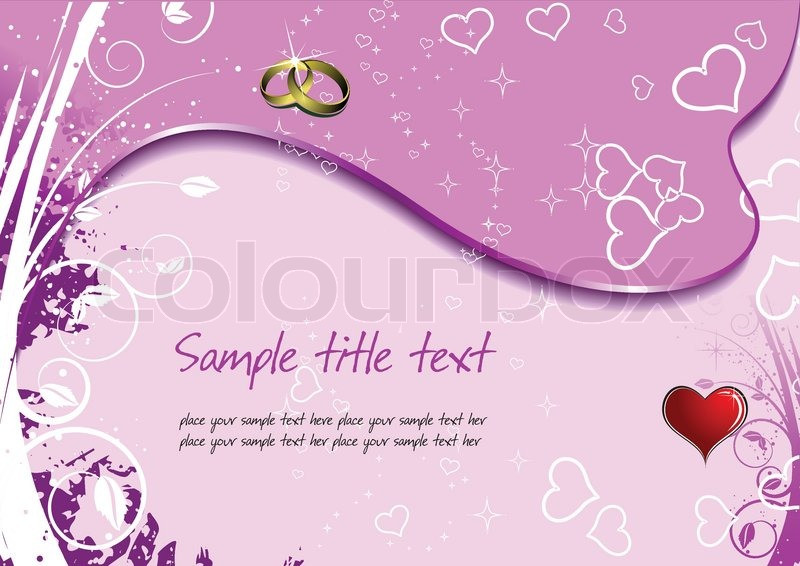 Stock Vector Of Wedding Or Valentines Day Greeting Card Illustration