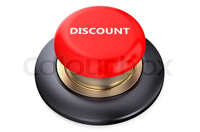 Stock image of 'Discount Red button isolated on white background'
