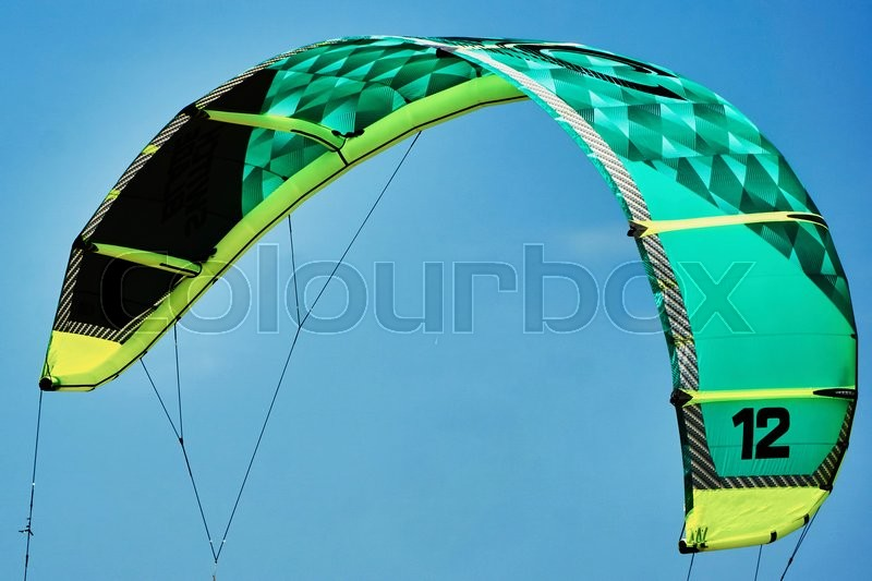 Stock image of 'Kite surfing'