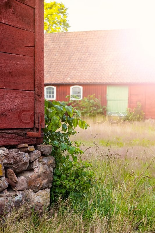 Stock image of 'Image of abandoned farm. Skane, Sweden. '