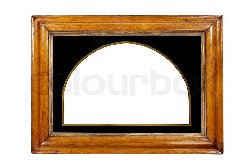 Stock image of 'Frame rectangular wall hanging or mirror some gilding isolated with clipping paths'