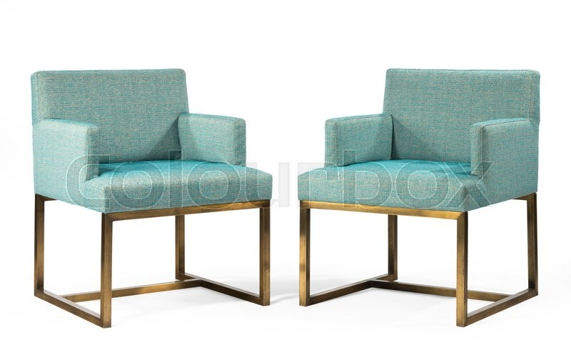 Stock image of 'old antique1960's square styled chairs rare retro and contemporary'