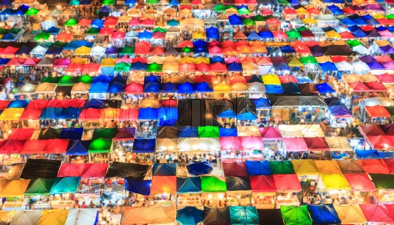 Stock image of 'Popular market in bangkok of Thailand'