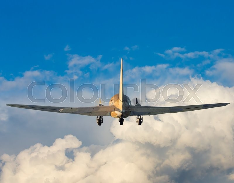 Stock image of 'Sweet flying, above the clouds'