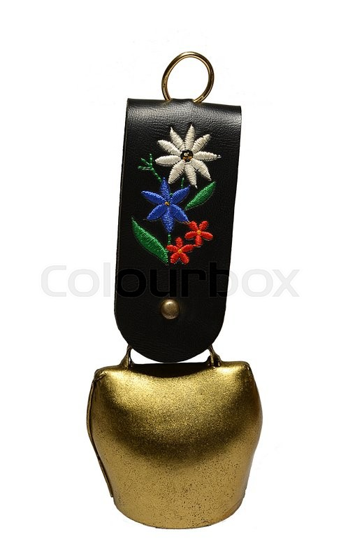 Stock image of 'Switzerland decorative bell with a flower.'
